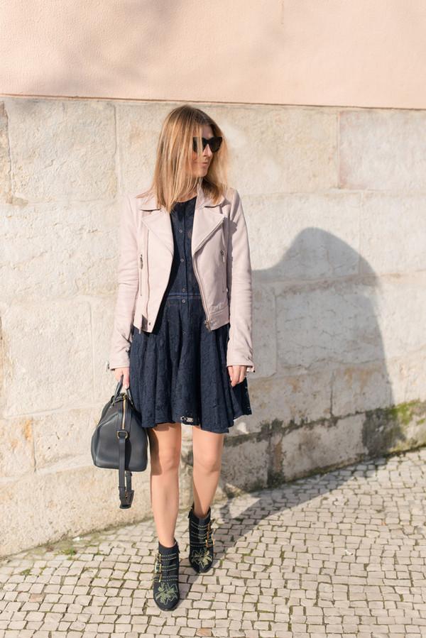 the working girl jacket dress sunglasses bag shoes