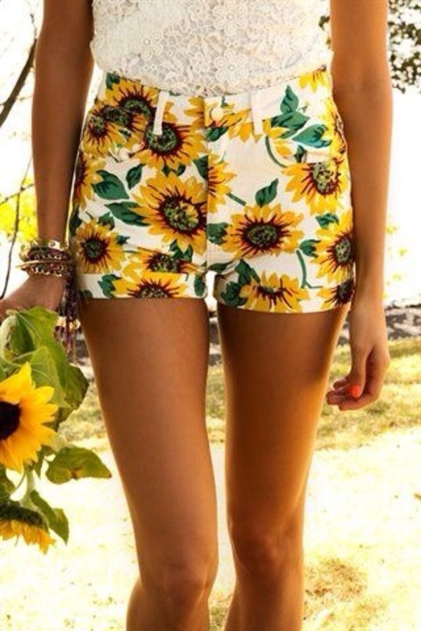 shorts sunflower High waisted shorts