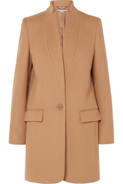 Stella McCartney coat wool camel