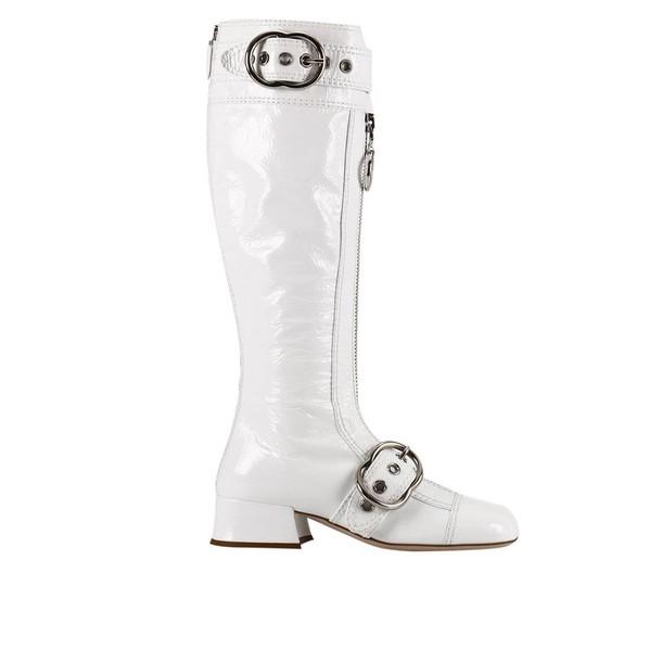 Miu Miu boots shoes women shoes white