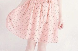 skirt cute skirt pink skirt polka dots pink cute girl pink polka dots fashion kfashion korean skirt polka dot skirt pink polka dot skirt korean fashion