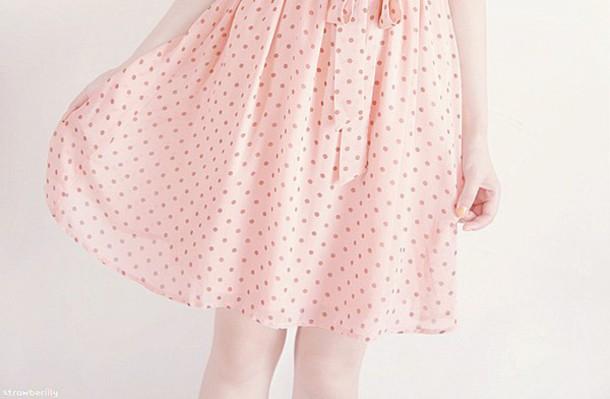 skirt cute skirt pink skirt polka dots pink cute girl pink polka dots fashion kfashion korean skirt polka dot skirt pink polka dot skirt korean fashion korean fashion