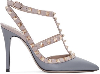 heels pink grey shoes