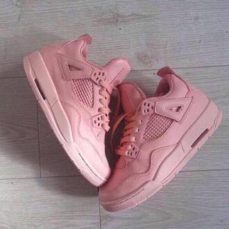 shoes snickers air jordan trainers pink pink sneakers