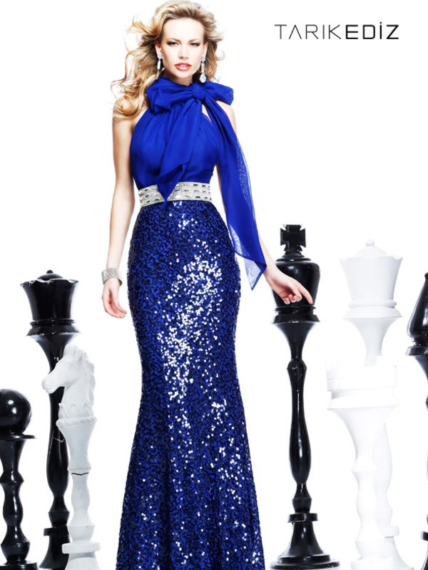 tarik ediz dress sheath dresses blue dress halter prom dresses gorgeous luxury sexy dress blue prom dress sexy evening dresses