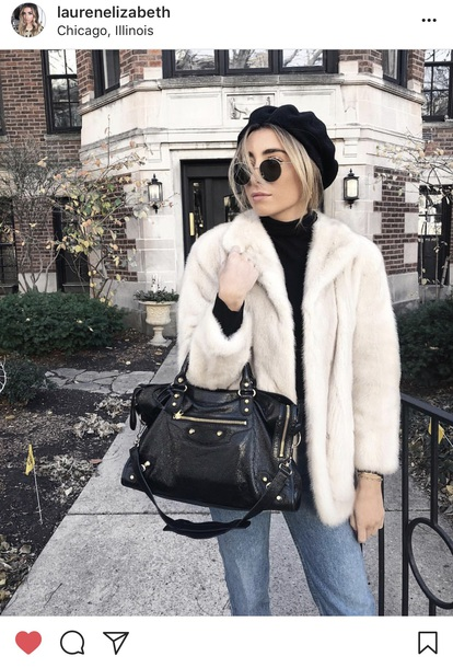 coat white fur coat
