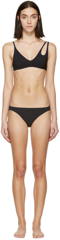 bikini bikini top black swimwear