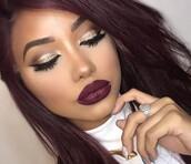 make-up,eye makeup,face makeup,prom makeup,makeup look,party make up,gold,gold sequins,burgundy,burgundy lipstick,matte,matte lipstick,matte nail polish,matte nars lipstick,brows,mac brows,lashes