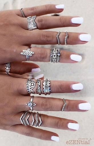 jewels jewelry boho boho chic boho jewelry knuckle ring ring rings and tings silver silver ring silver jewelry ring stack