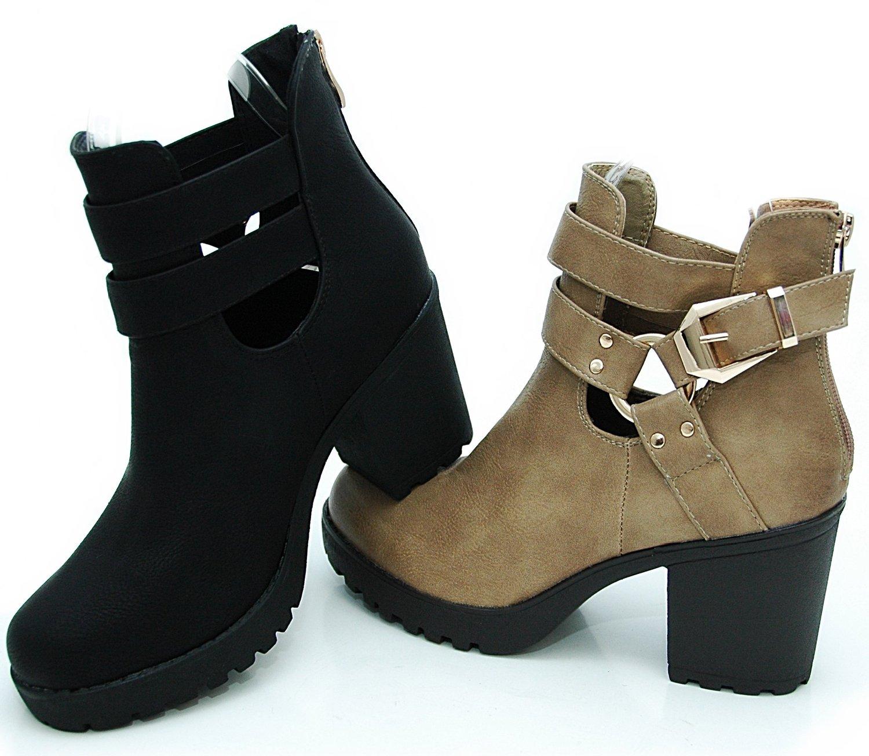 Salin shoes© plateau boots stiefeletten in cut out style: amazon.de: schuhe & handtaschen