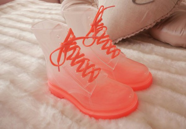shos martens fluo boot boots combat boots high heels orange amazing perfet winter outfits wellies shoes
