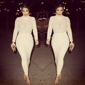 kim kardashian,skirt,dress,cream,sheer,summer,elegant,ankle length,bodysuit,shirt,kim kardashian dress,nude dress