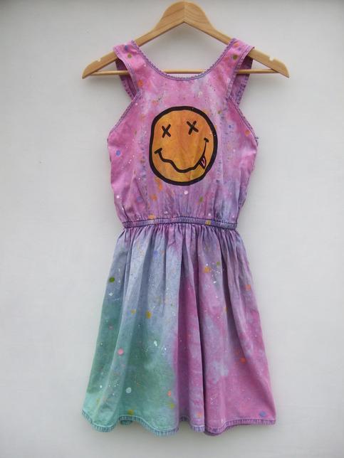 Nirvana smiley tie dye splash dress · tappington and wish · online store powered by storenvy