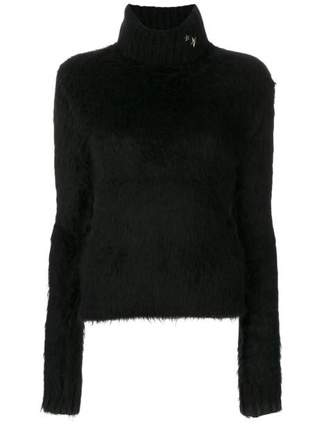 Saint Laurent jumper women spandex mohair black wool sweater