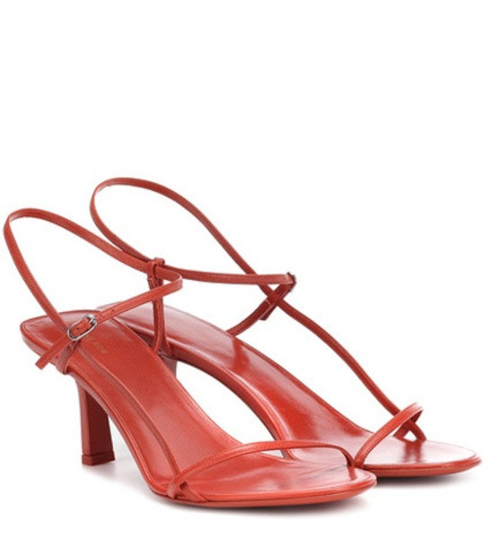 The Row Bare leather sandals in red