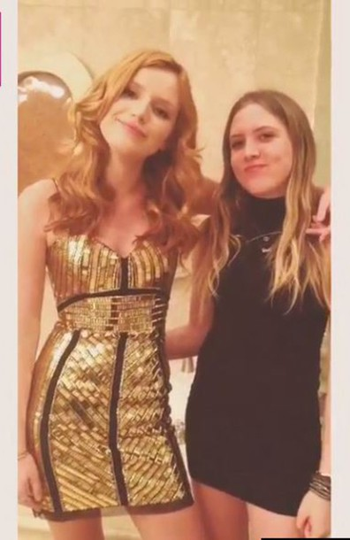 dress gold sequins sequin dress bella thorne