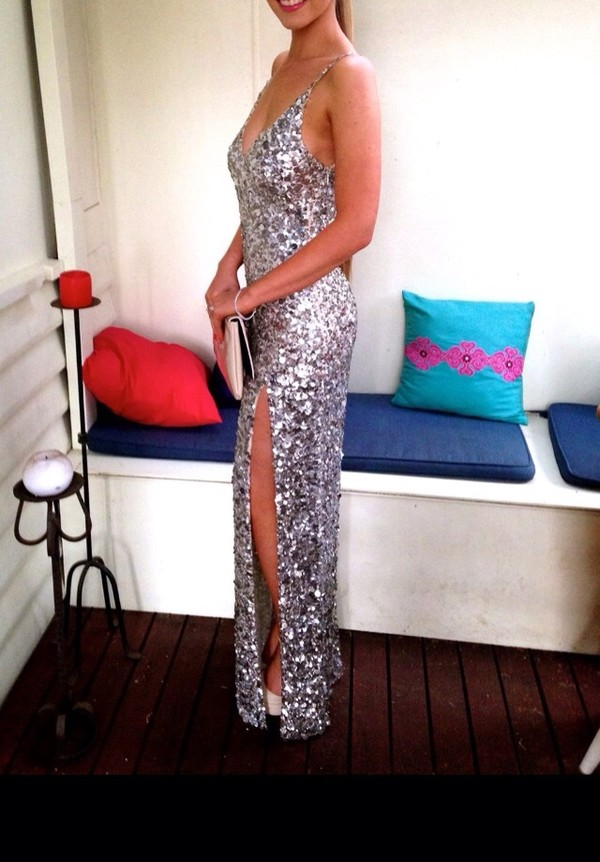 dress sequins ball gown dress