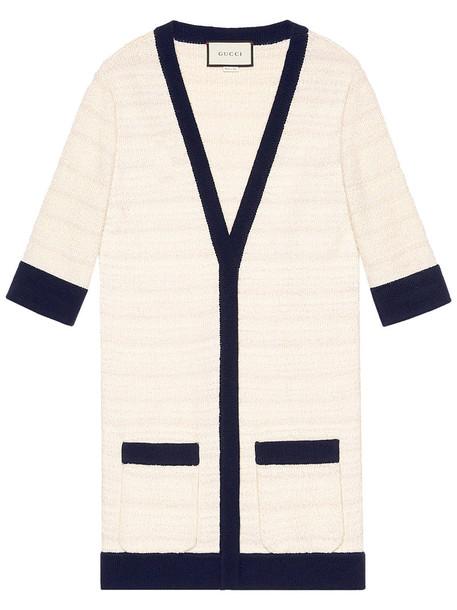 gucci cardigan cardigan women white cotton wool sweater
