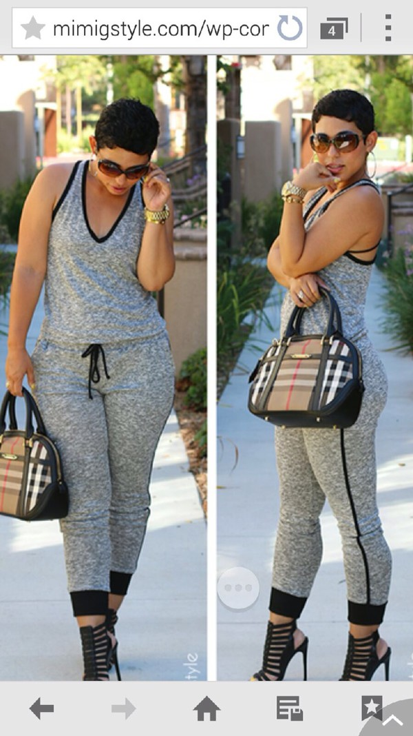jumpsuit grey baggy romper freeloader junpsuit kinda loose grey knit