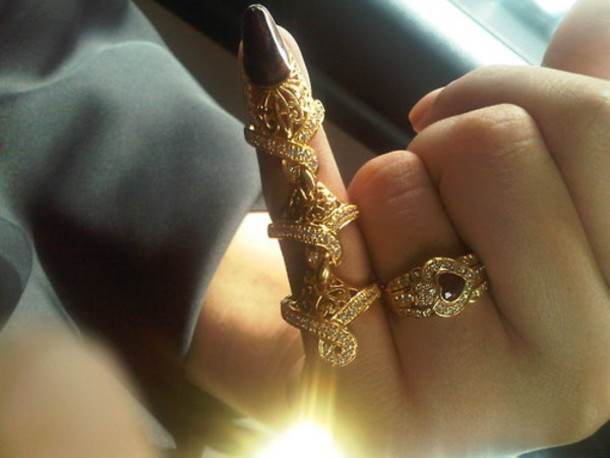 Jewels ring double ring gold cute dope beautiful gold ring