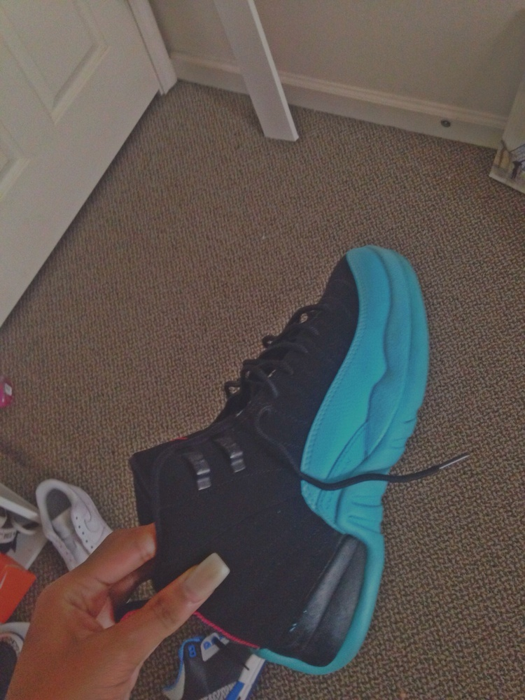 yani soo pretty — air jordan 12 gamma blue