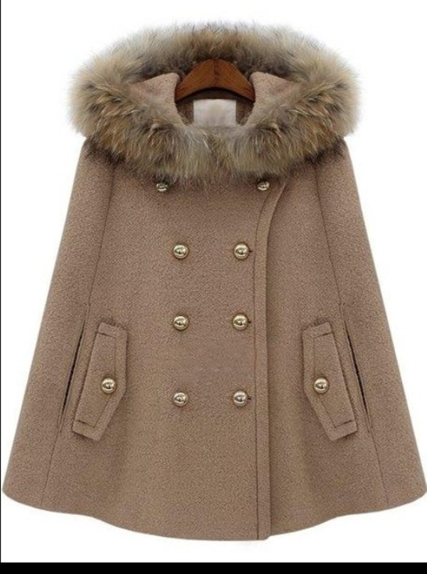 coat beige cape
