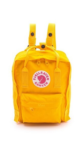 mini warm backpack yellow bag