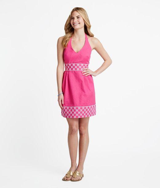 Buy Horsebit Lattice Embroidered Dress for Women | Vineyard Vines®