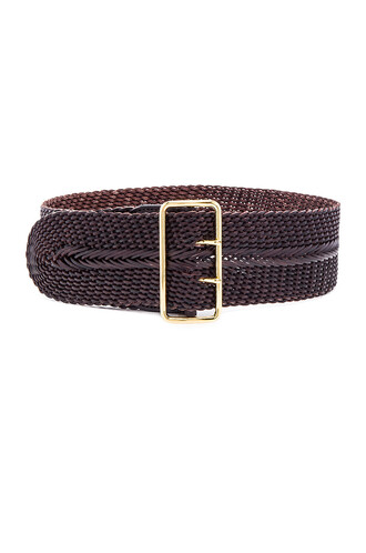 braided belt waist belt brown