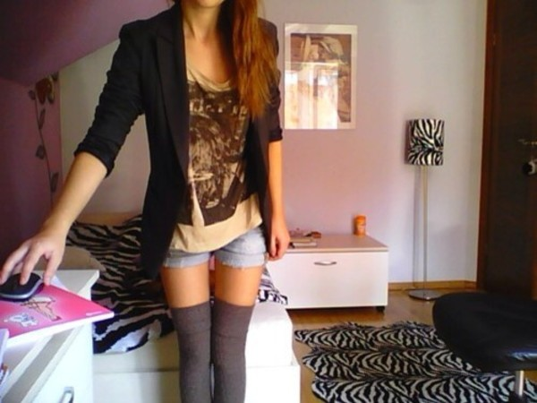 shirt blazer knee high socks shorts cute underwear
