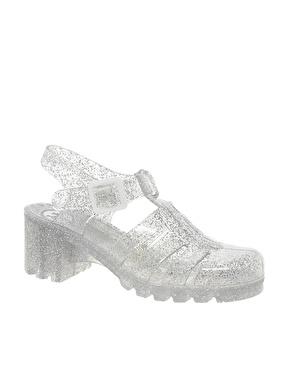 Juju babe glitter heeled sandals at asos