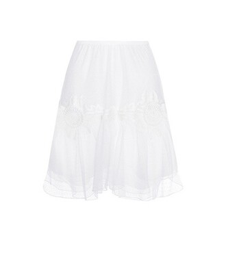skirt lace skirt lace cotton white