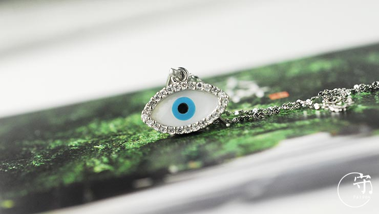 Special Turkey Blue Devils Eyes Pendant With Diamonds No Chain - Wishbop.com