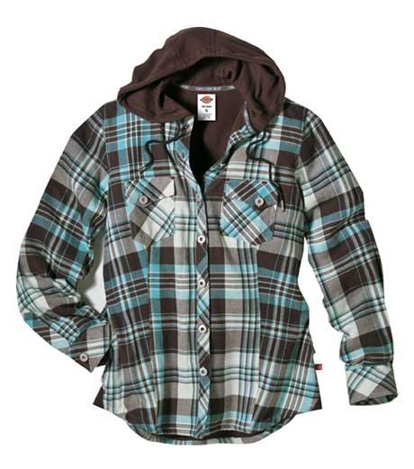 Dickies Jackets Dickies FJ350 Women's Plaid Flannel Shirt Jackets