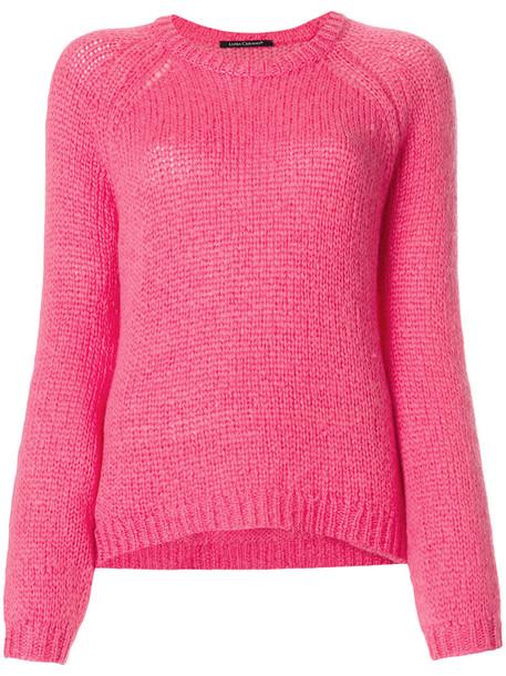 Luisa Cerano sweater women mohair wool purple pink