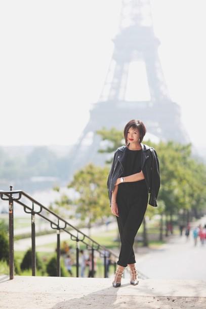 le monde de tokyobanhbao blogger jumpsuit jacket shoes make-up jewels