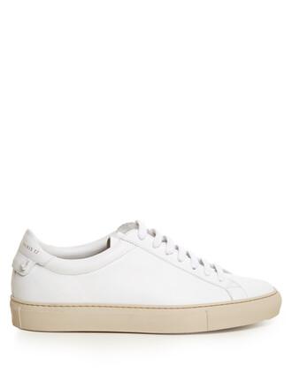 top street urban leather white
