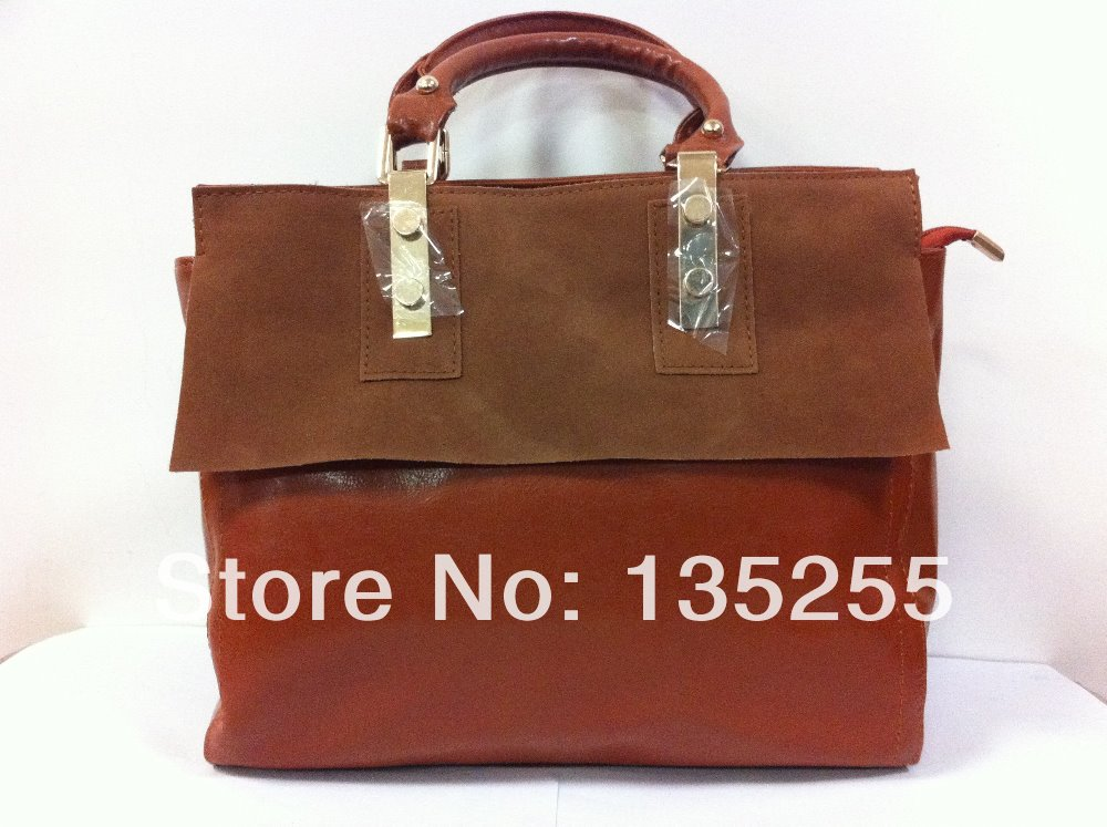 Wholesale New 2013 2014 fashion famous brand designer women messenger c line bag PU leather shoulder handbag free shipping-inMessenger Bags from Luggage & Bags on Aliexpress.com