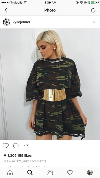 shirt camouflage kylie jenner