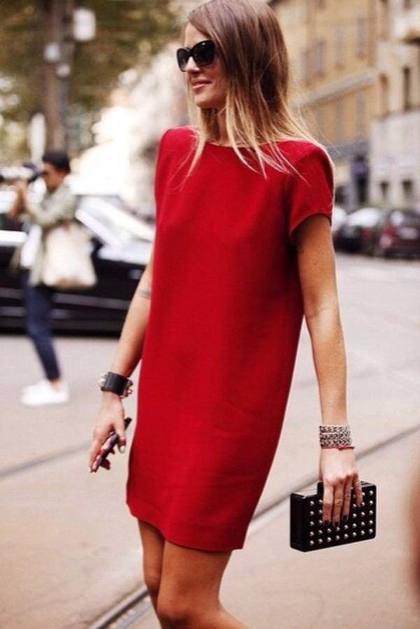 dress red red dress no sleeves bag