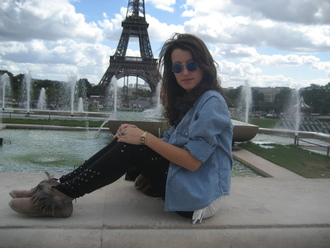 pants paris ♥ vintage andré love lunettes vintage eiffel tower