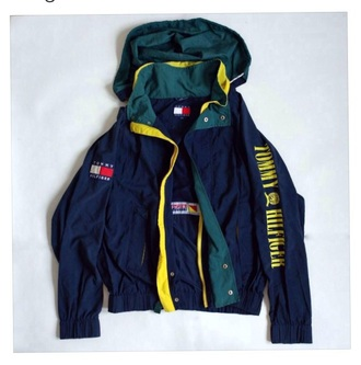 jacket retro vintage windbreaker tommy hilfiger timmy hilfiger windrunner