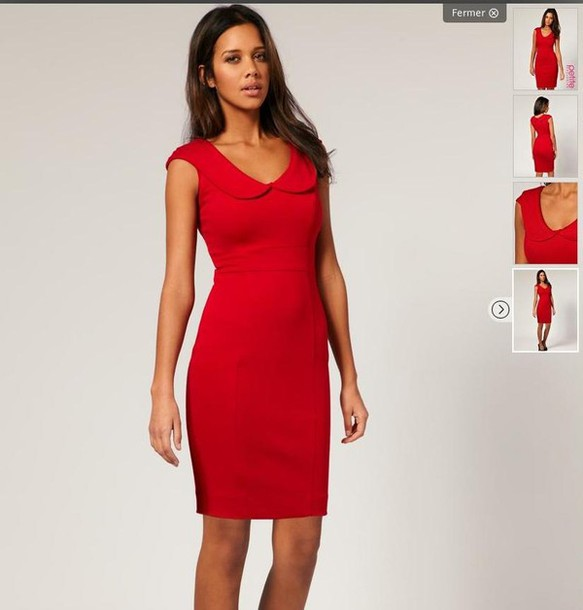 red petite dress - Dress Yp
