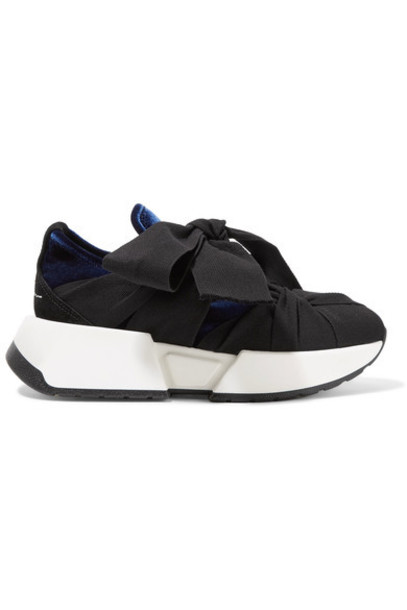 Mm6 Maison Margiela sneakers blue suede velvet shoes