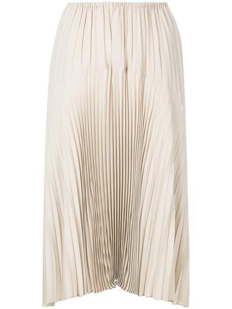 Vince skirt pleated skirt pleated women nude silk