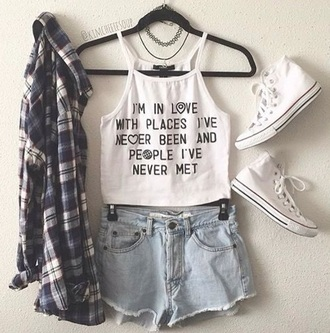 top white tank top summer quote on it shirt