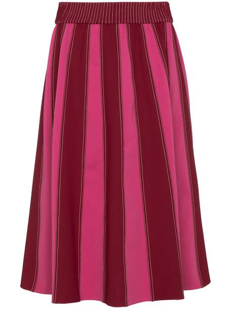 skirt midi skirt women midi spandex purple pink