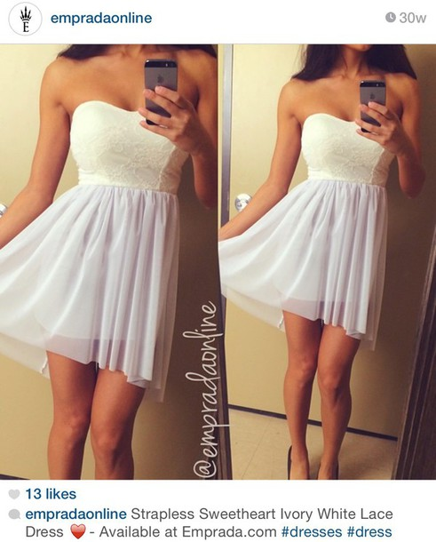 dress white dress bustier lace dress fashion style
