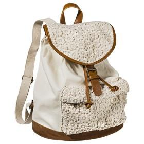 Mossimo Supply Co. Crochet Backpack Handbag - Ivory : Target Mobile