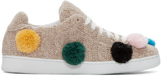 knit sneakers beige shoes